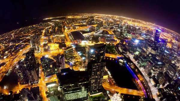 Timelapse video of Melbourne at night Royalty-free stock video