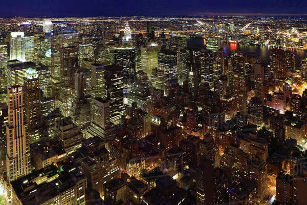 Night view of Midtown Manhattan in New York Royalty-free stock photo
