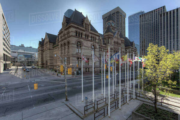 Court House, Toronto, the Old City Hall Royalty-free stock photo
