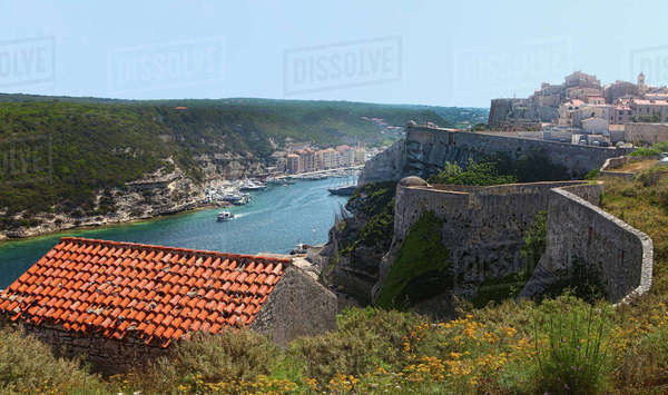 View from the Citadel in Bonifacio in Corsica Royalty-free stock photo