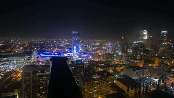 Timelapse 3Axis shot of Los Angeles Rights-managed stock video
