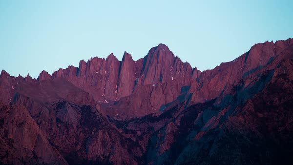 Mount Whitney Sunrise Timelapse Rights-managed stock video