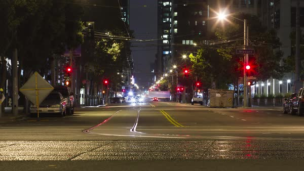 San Francisco City Night Timelapse Royalty-free stock video