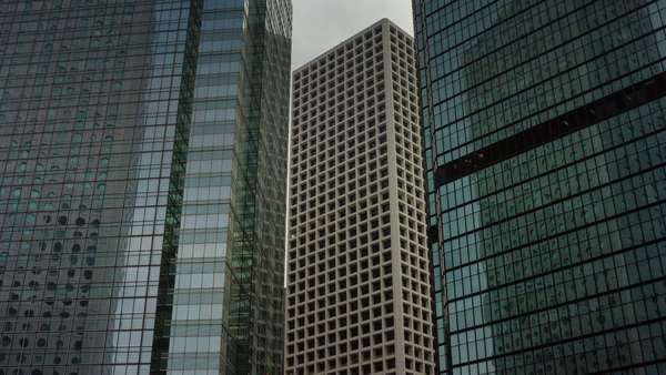 Day time buildings close up timelapse from Hong Kong China Royalty-free stock video