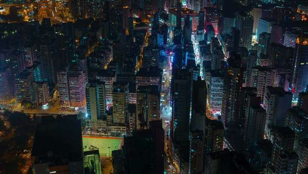 Night light city life rush timelapse from Hong Kong China Royalty-free stock video