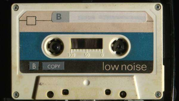 Audio cassette playing Royalty-free stock video