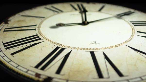 Antique watch  with roman numerals timelapse Royalty-free stock video