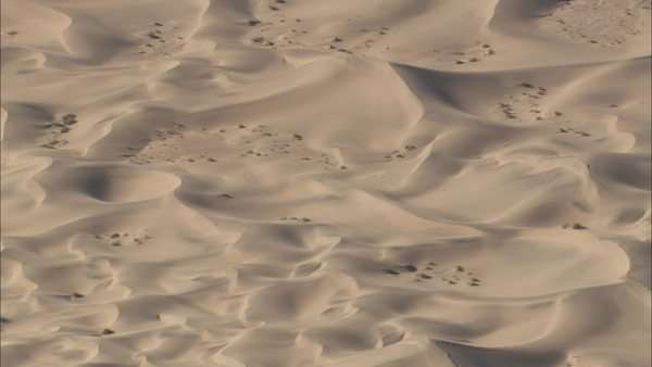 Aerial shot of a desert Royalty-free stock video