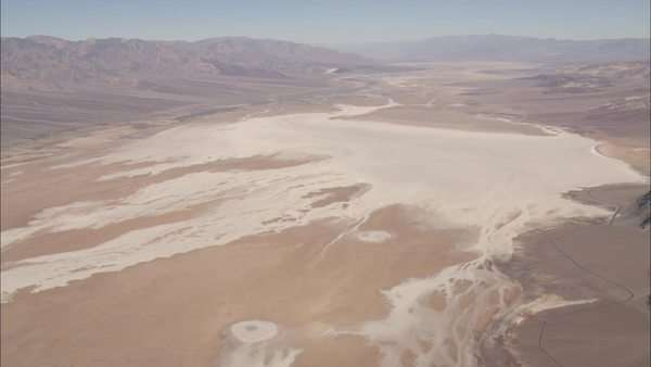 Extreme wide shot of salt flats Royalty-free stock video