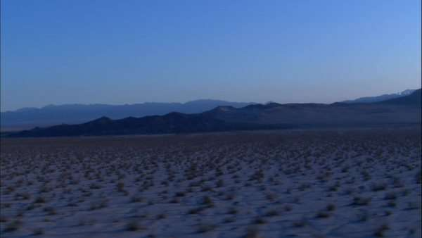 Wide shot of a desert at dusk Royalty-free stock video