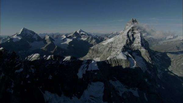 Aerial shot of mountains in the Swiss Alps Royalty-free stock video