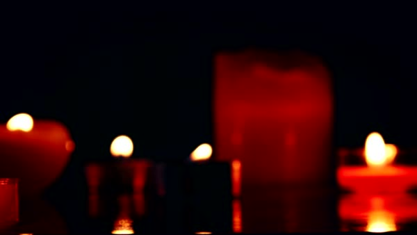 Candles with  lights  Royalty-free stock video