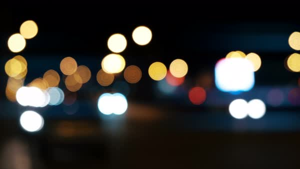 Defocused Night Traffic Lights Background Royalty Free Stock Video