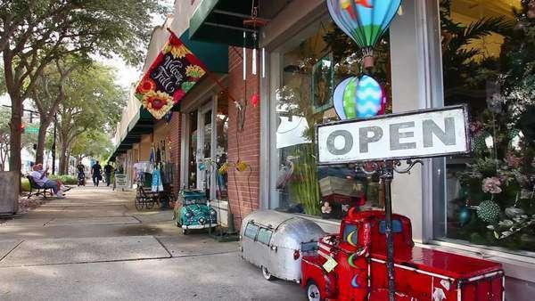 Front Downtown Street Corner New Smyrna Beach Florida D844 2 018
