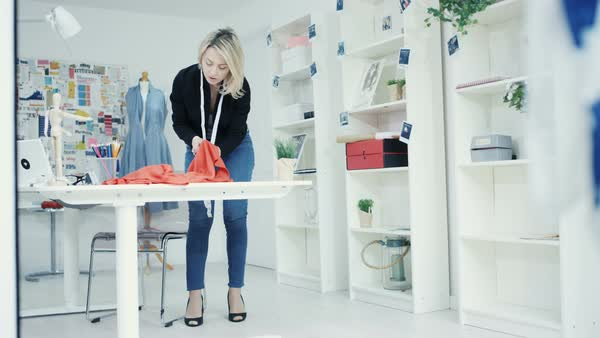 Furniture Design Royalty Rates fashion designer at work in creative studio - stock video footage
