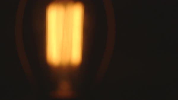 Close-up shot of an illuminated lamp Royalty-free stock video