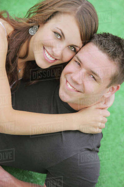 Portrait Of A Young Couple; Troutdale, Oregon, United States of America Royalty-free stock photo