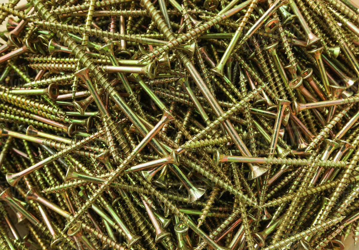 Pile Of Nails Used For Housing Construction British Columbia Canada