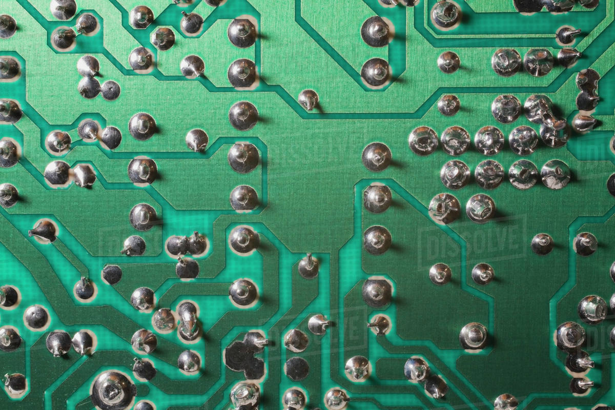 Computer Circuit Board Stock Photo Dissolve With Electronics Components Royalty Free
