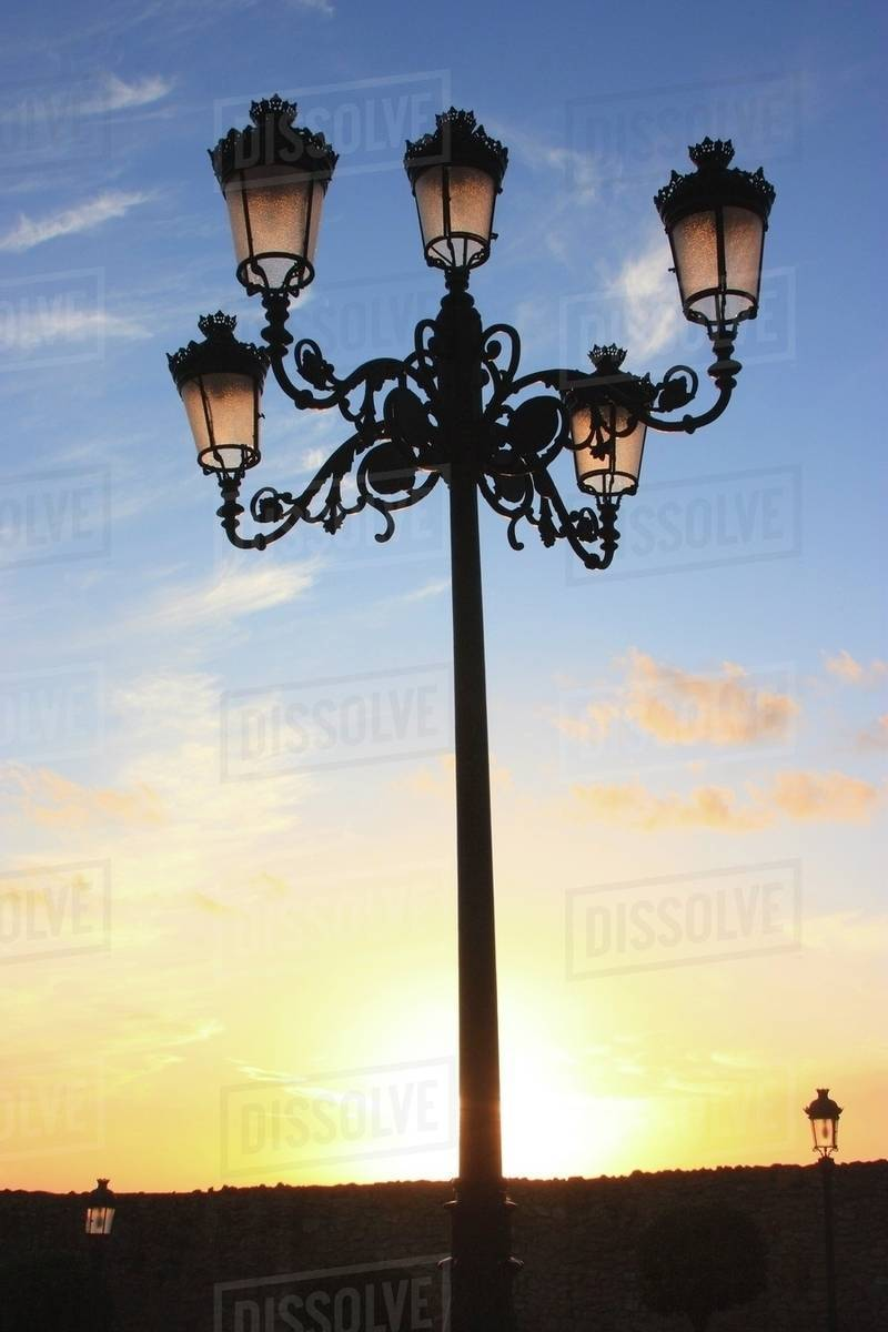 Old Fashioned Lamp Post Medina Sidonia Cadiz Spain