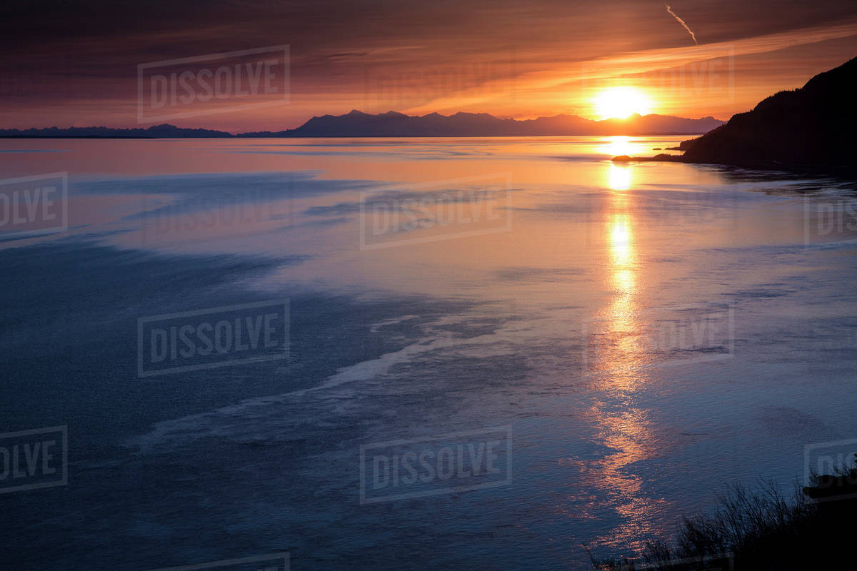 Spring Sunset At Lake Garda Desktop Background The Wallpaper