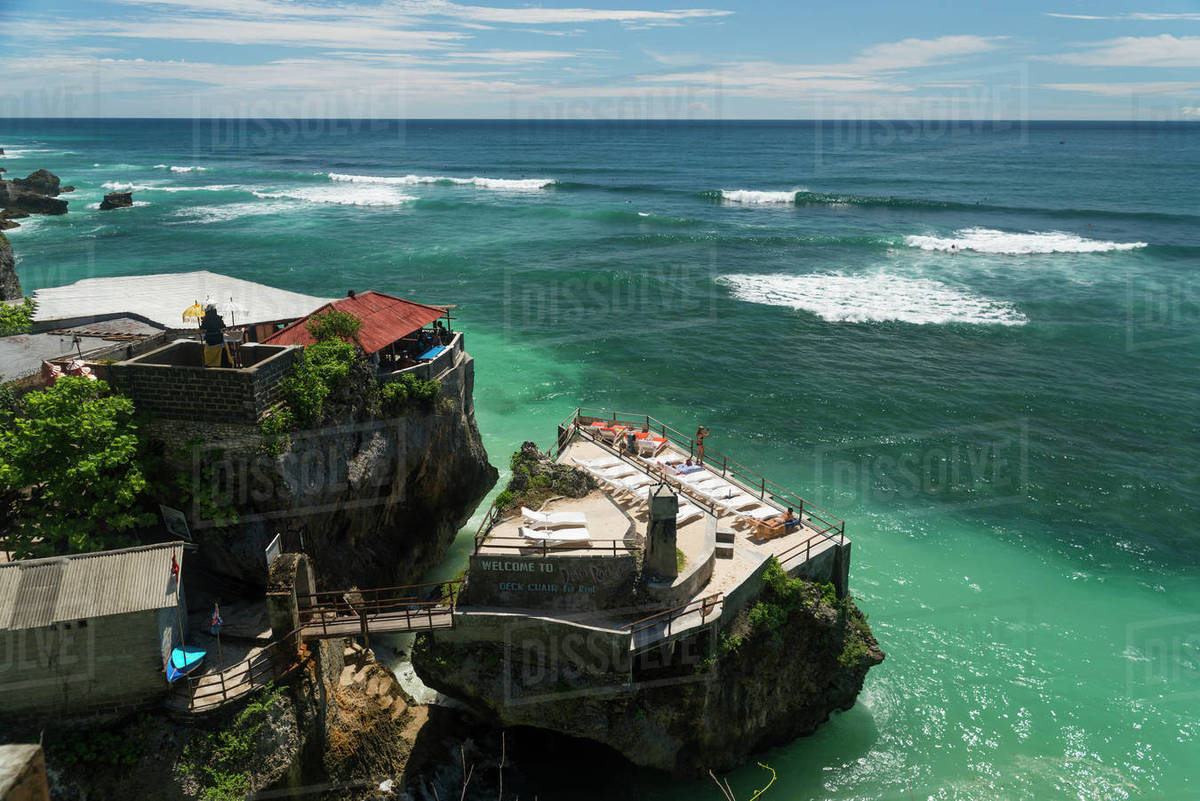 Uluwatu Beach Famous In The Surf World Bali Island Indonesia