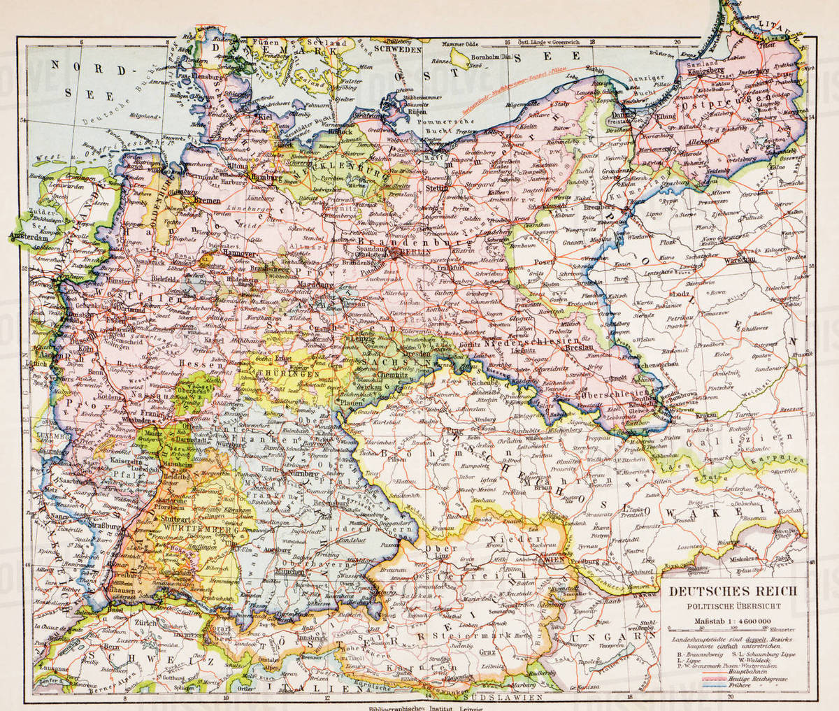 Map Of Germany Between World War One And World War Two From Meyers