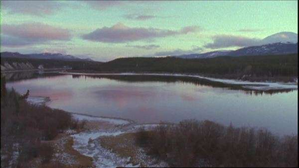 Wide shot of a lake in Yukon, Canada Royalty-free stock video