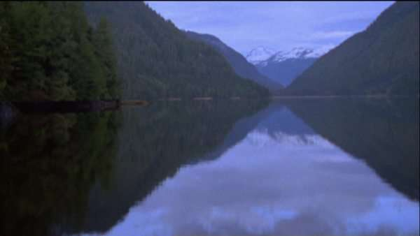 Wide-angle shot of a fjord in British Columbia Royalty-free stock video