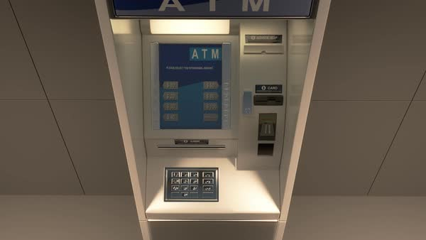 Banknotes Falling Out Of An Atm Machine Royalty-free stock video