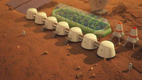Research station discovers the source of energy on mars Royalty-free stock video