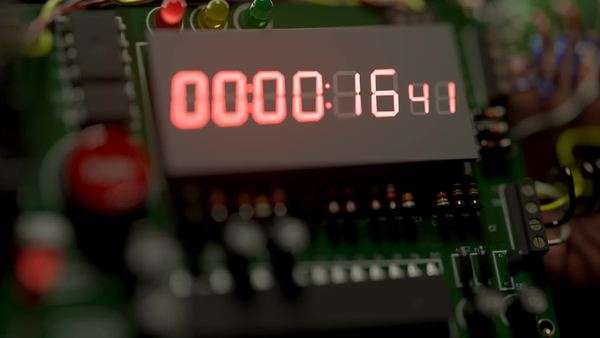 Countdown explosive TNT bomb with digital timer Royalty-free stock video