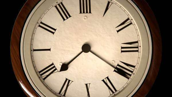 Clock With Speeding Time Royalty-free stock video