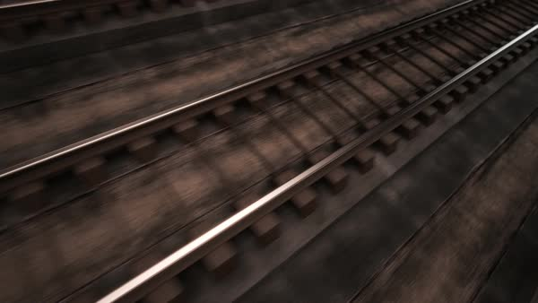 Close-up Of Seamless Railroad Royalty-free stock video