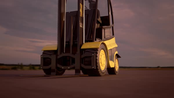 Modern Forklift Truck Royalty-free stock video