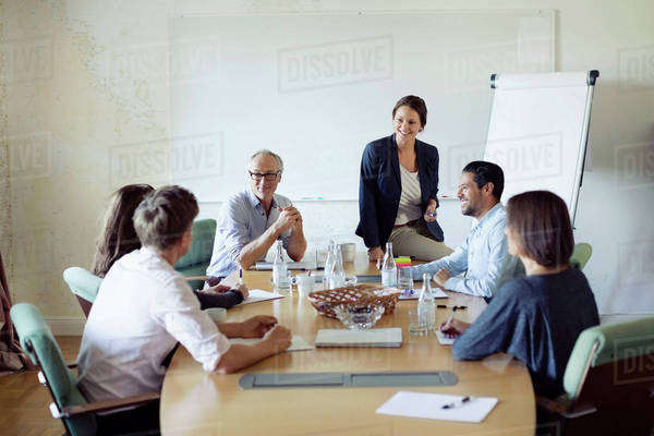Group of business people in conference meeting Royalty-free stock photo