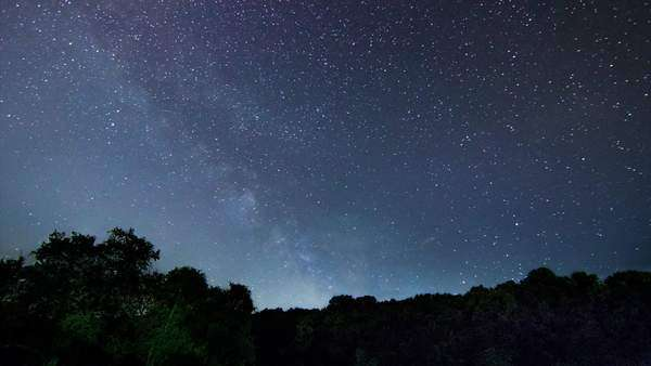 Milky Way timelapse beautiful night sky, our hour timelapse Royalty-free stock video