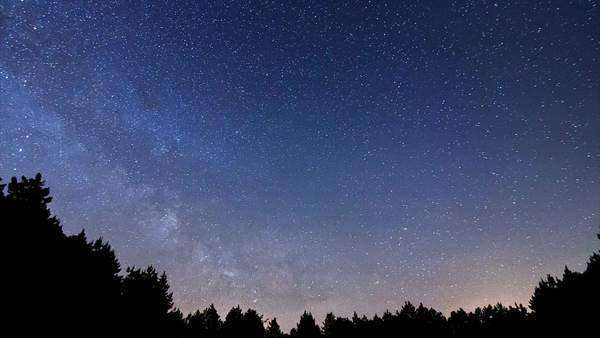 Milky Way timelapse beautiful night sky, four hour timelapse Royalty-free stock video