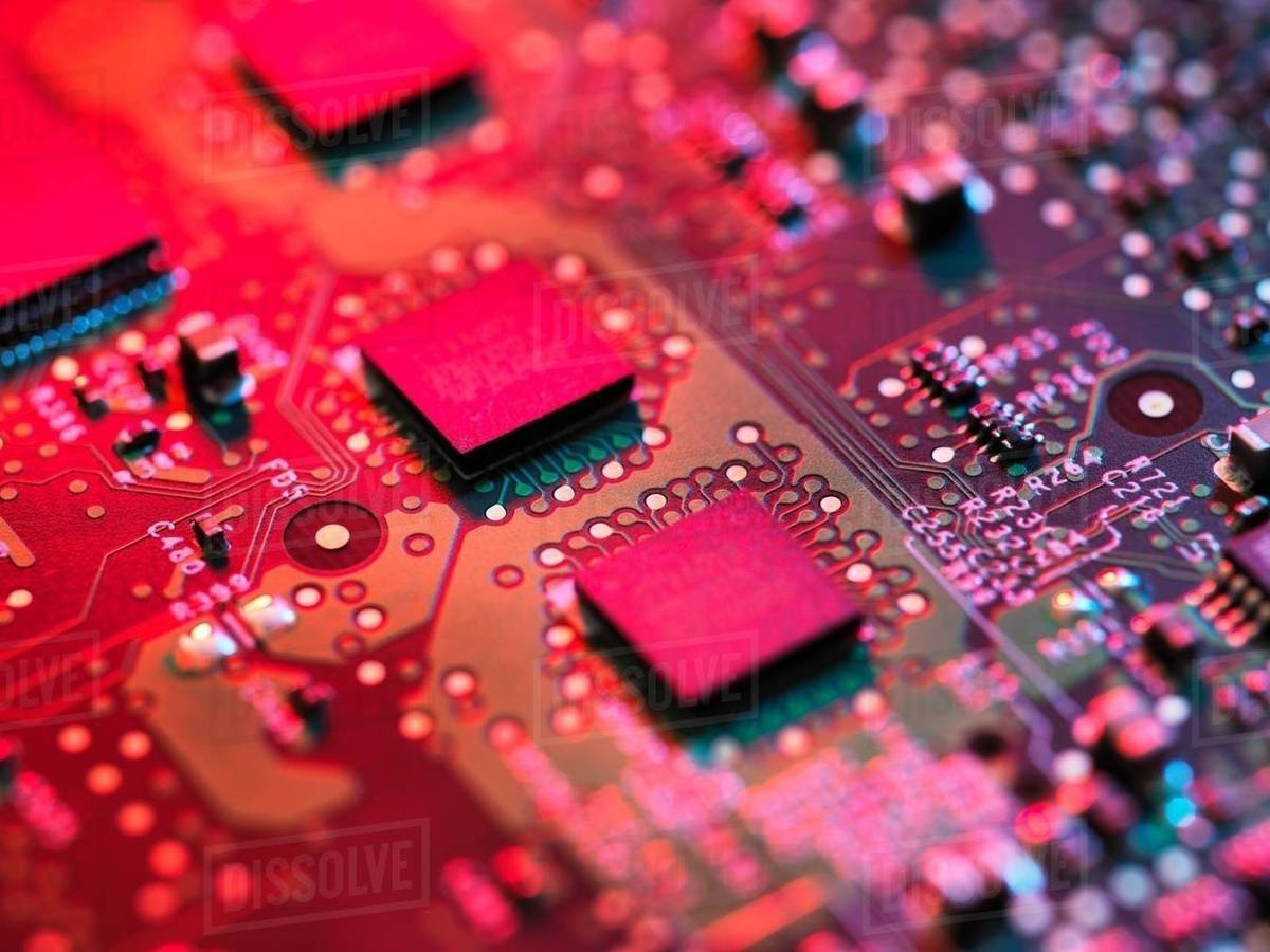 Detail Of A Printed Circuit Board Royalty Free Stock Photo Image