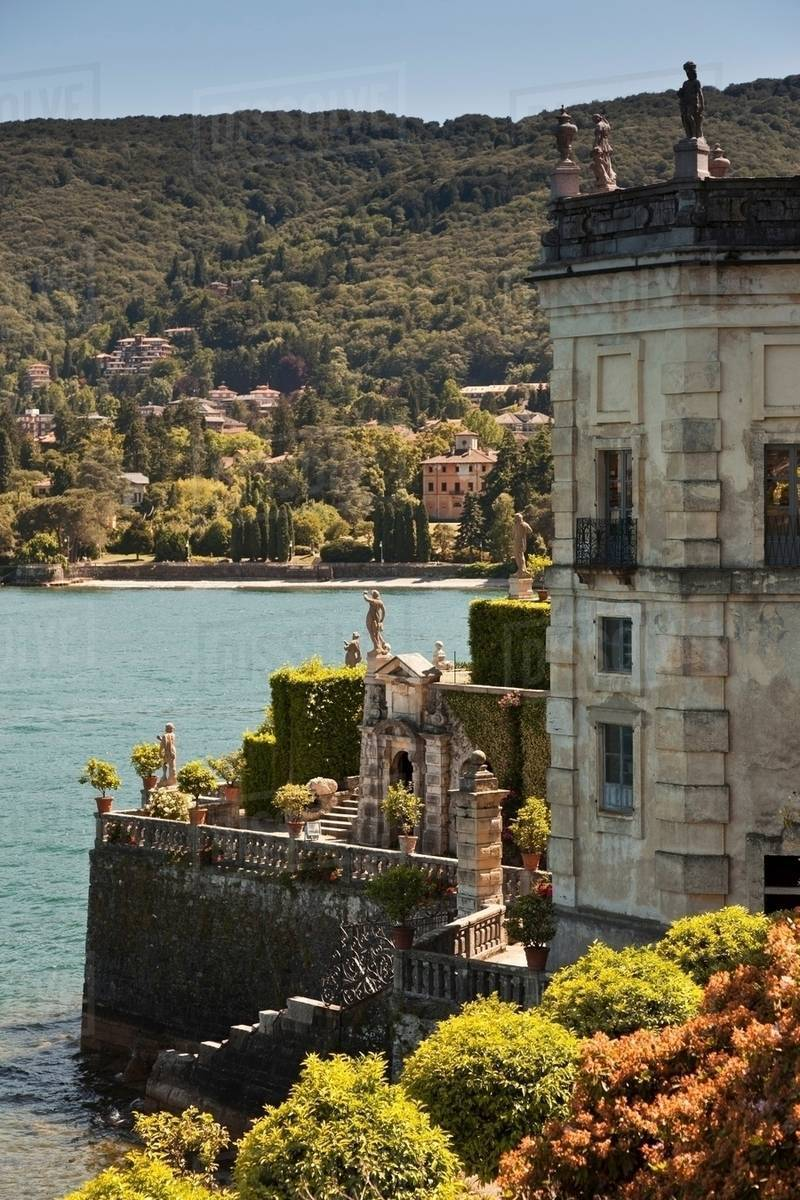 Ornate House Built On Waterfront Stock Photo Dissolve