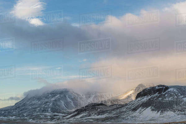 Mountains, Mosfellsheidi, Iceland Royalty-free stock photo