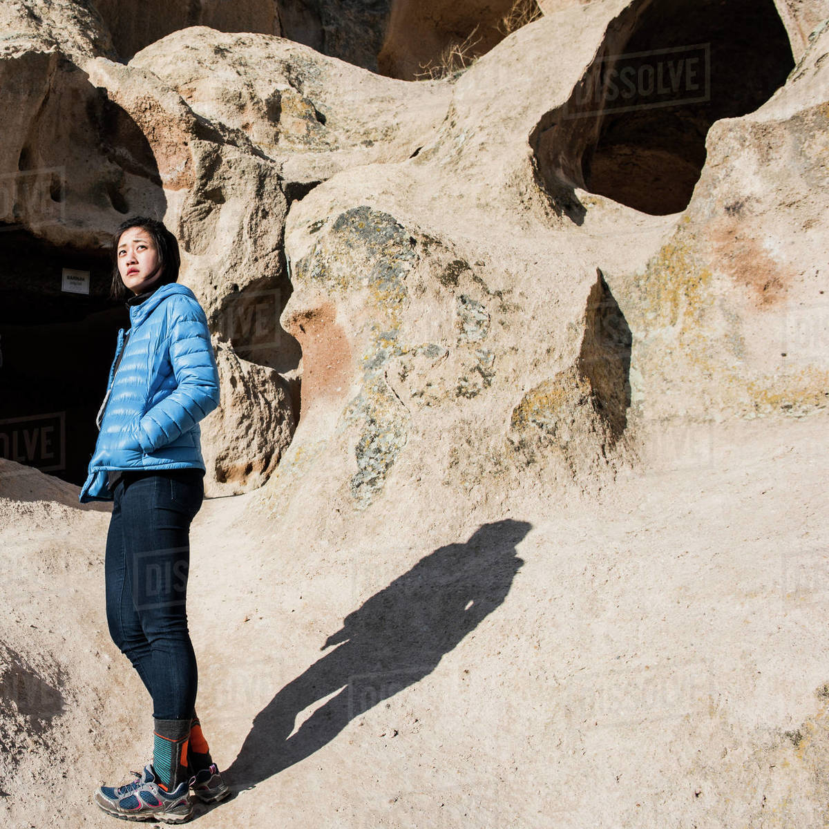 Woman exploring Selime Monastery, Göreme, Cappadocia, Nevsehir, Turkey  Royalty-free stock photo