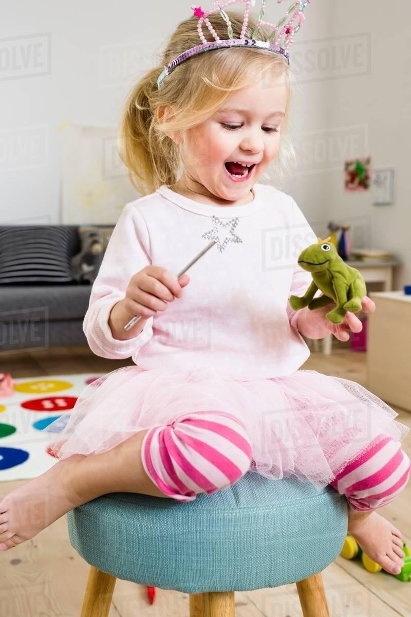 Girl playing fairy princess Royalty-free stock photo