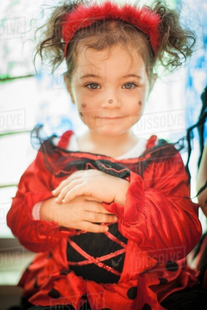 Smiling girl wearing fairy costume Royalty-free stock photo