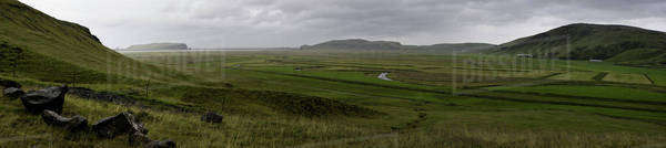 Iceland, panoramic view of countryside Royalty-free stock photo