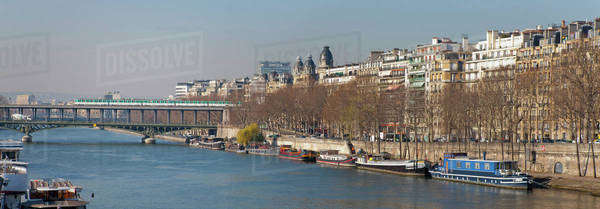 Banks of Seine River, Paris, France Royalty-free stock photo
