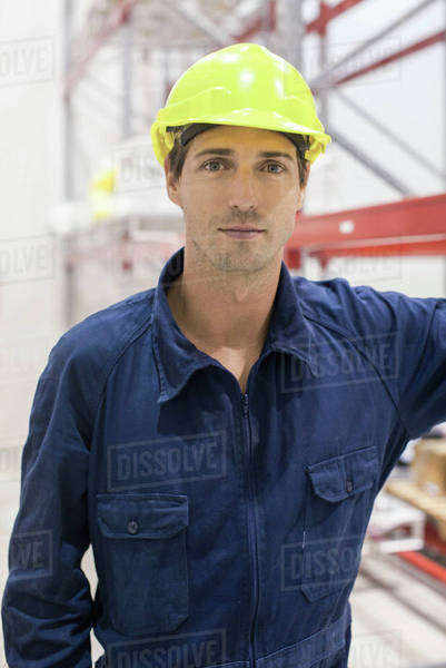 Worker in warehouse, portrait Royalty-free stock photo