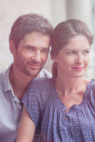 Couple relaxing together, portrait Royalty-free stock photo