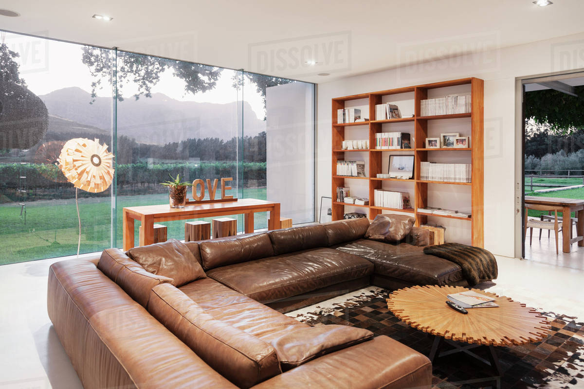 Leather Sofas In Luxury Living Room