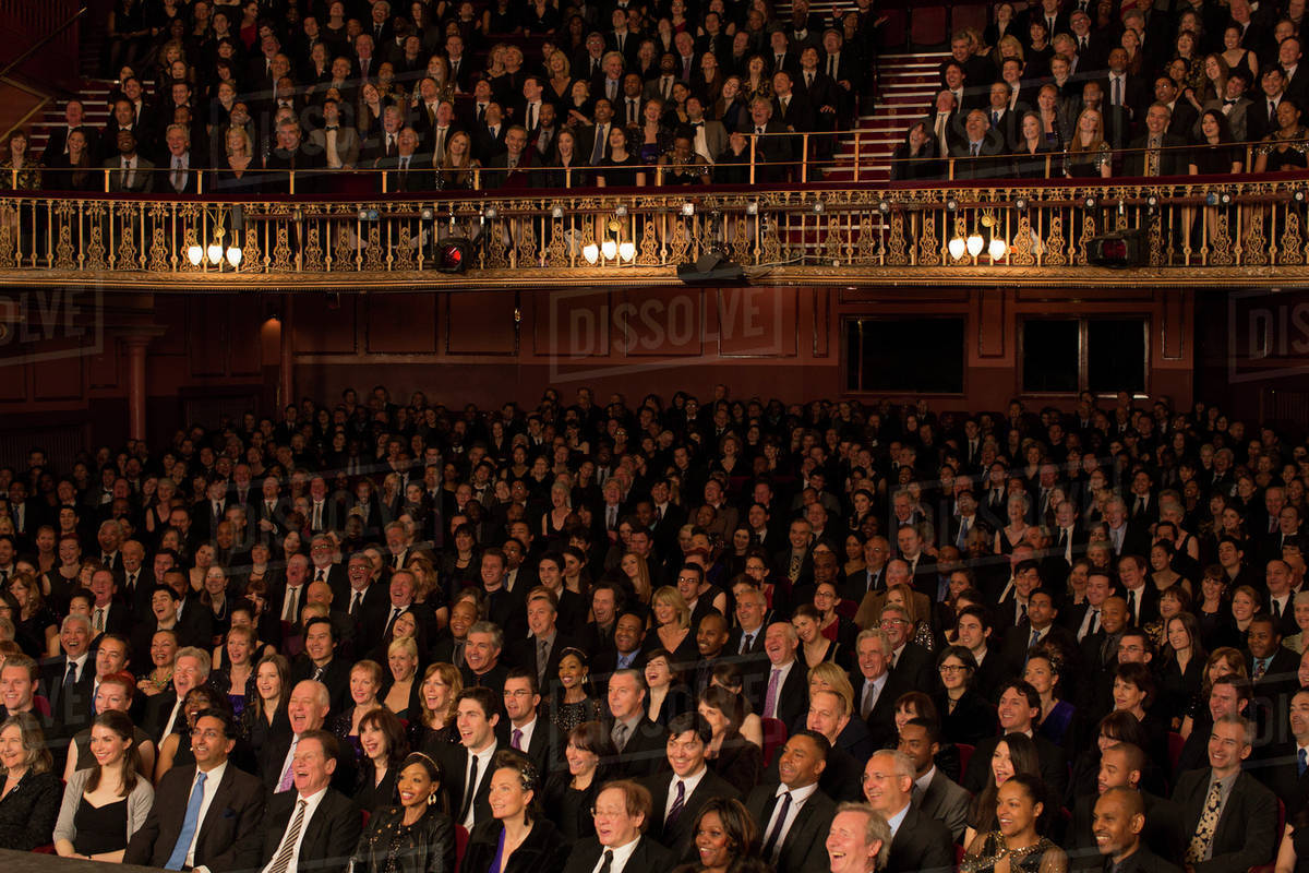 Audience sitting in theater Royalty-free stock photo